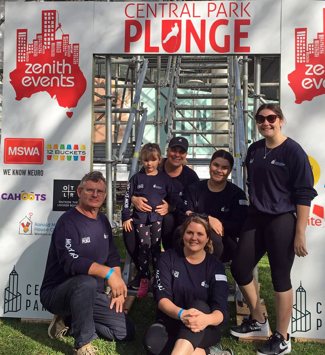 Annesley Family in 2020 Think Water Broome Team for the Central Park Plunge